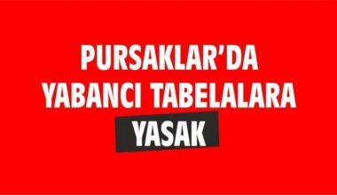 Pursaklar'da Yabancı Tabela Yasağı