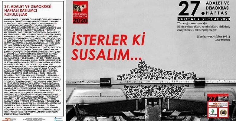 Adalet ve Demokrasi Haftası Çankaya'da başlıyor