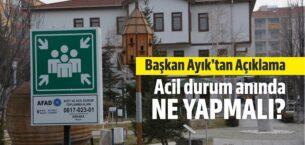 Akyurt Belediye Başkanı Ayık'tan Açıklama