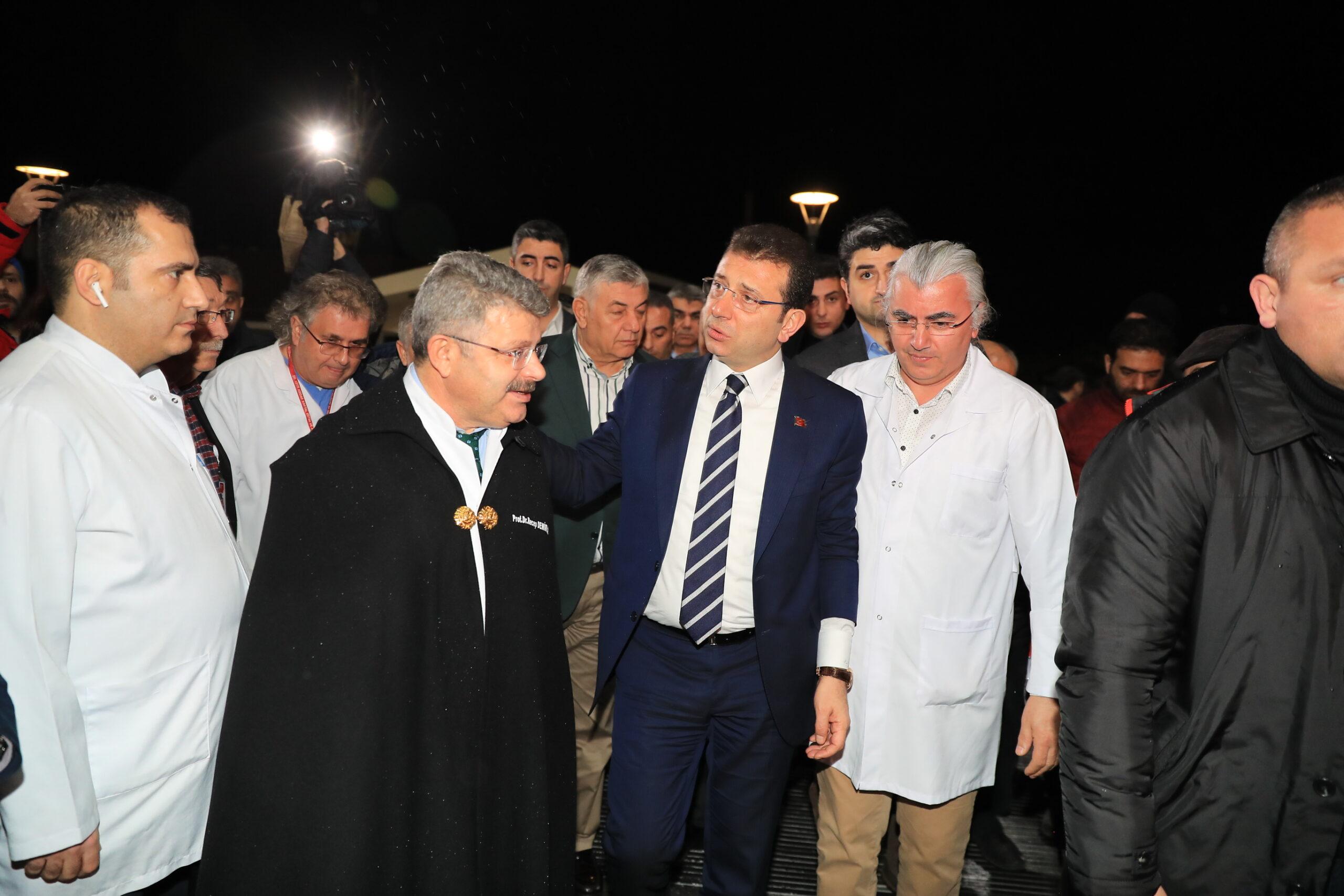 """İmamoğlu'ndan kazazedelere """"geçmiş olsun"""" ziyareti"""