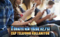 Türkiye'nin yüzde 92,7 si cep telefonu kullanıyor