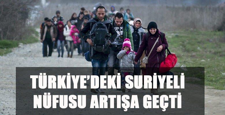 Türkiye'deki Suriyeli nüfusu artışa geçti