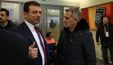 İmamoğlu Başakşehir maçını tribünden izledi