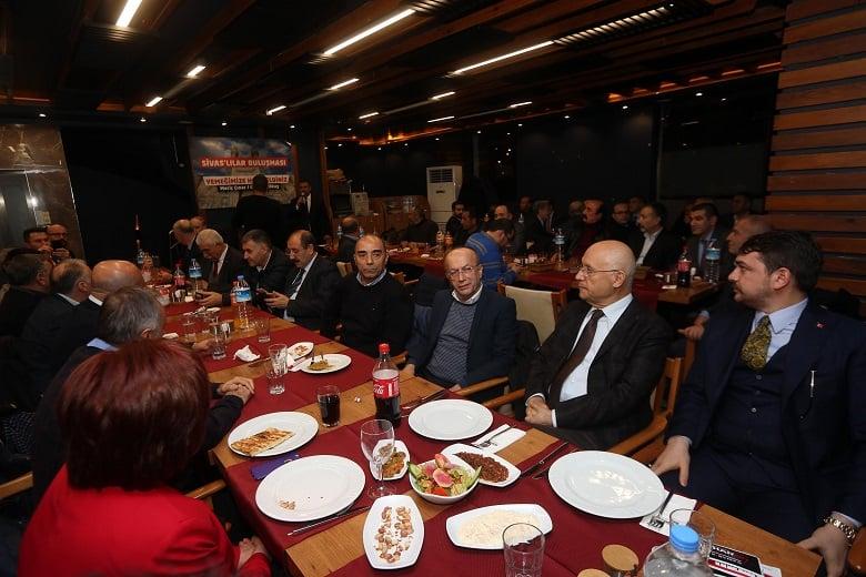 Yaşar, Sivaslılar buluşmasına katıldı