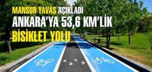 Ankara'ya 53,6 kilometrelik bisiklet yolu
