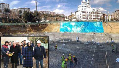 Üstü süs havuzu altı 3 kat otopark inşaatı başladı