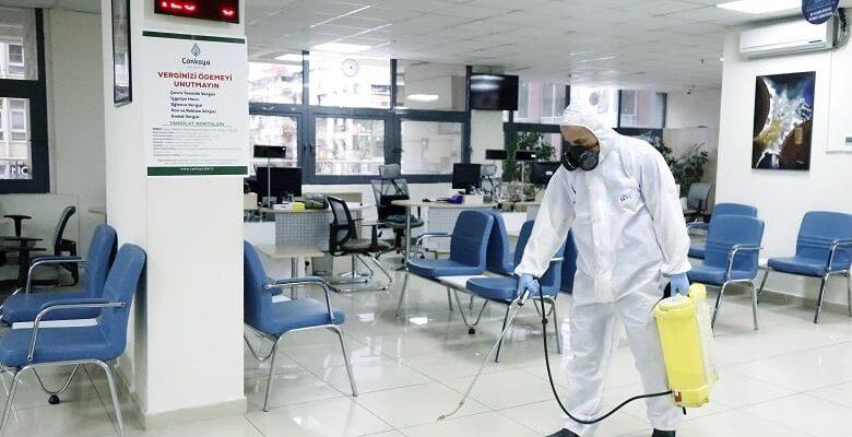 Çankaya'da yoğun dezenfekte çalışması
