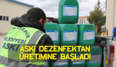 Bir haftada 8 ton. ASKİ dezenfektan üretimine başladı