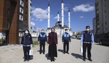 Akyurt'ta 10 bin konuta dezenfektan dağıtımına başlandı