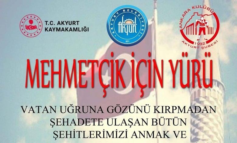 Akyurt'ta Mehmetçiğe Destek Yürüyüşü