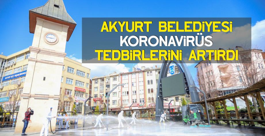 Akyurt Belediyesi Koronavirüs önlemlerini artırdı