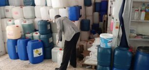 Yenimahalle'de sahte dezenfektan baskını