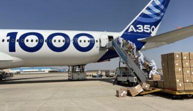 Airbus A350-1000 uçağını da COVID-19 mücadelesine kattı
