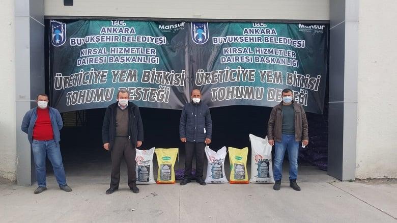 Başkentte üreticiye tohum desteği