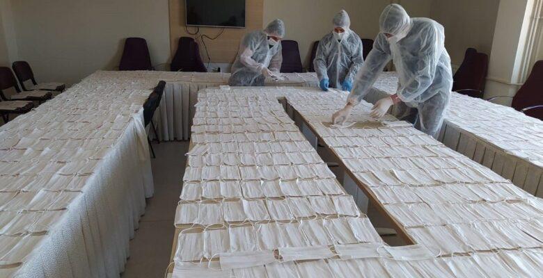 Akyurt Halk Eğitim Merkezi'nde 15 bin maske üretildi