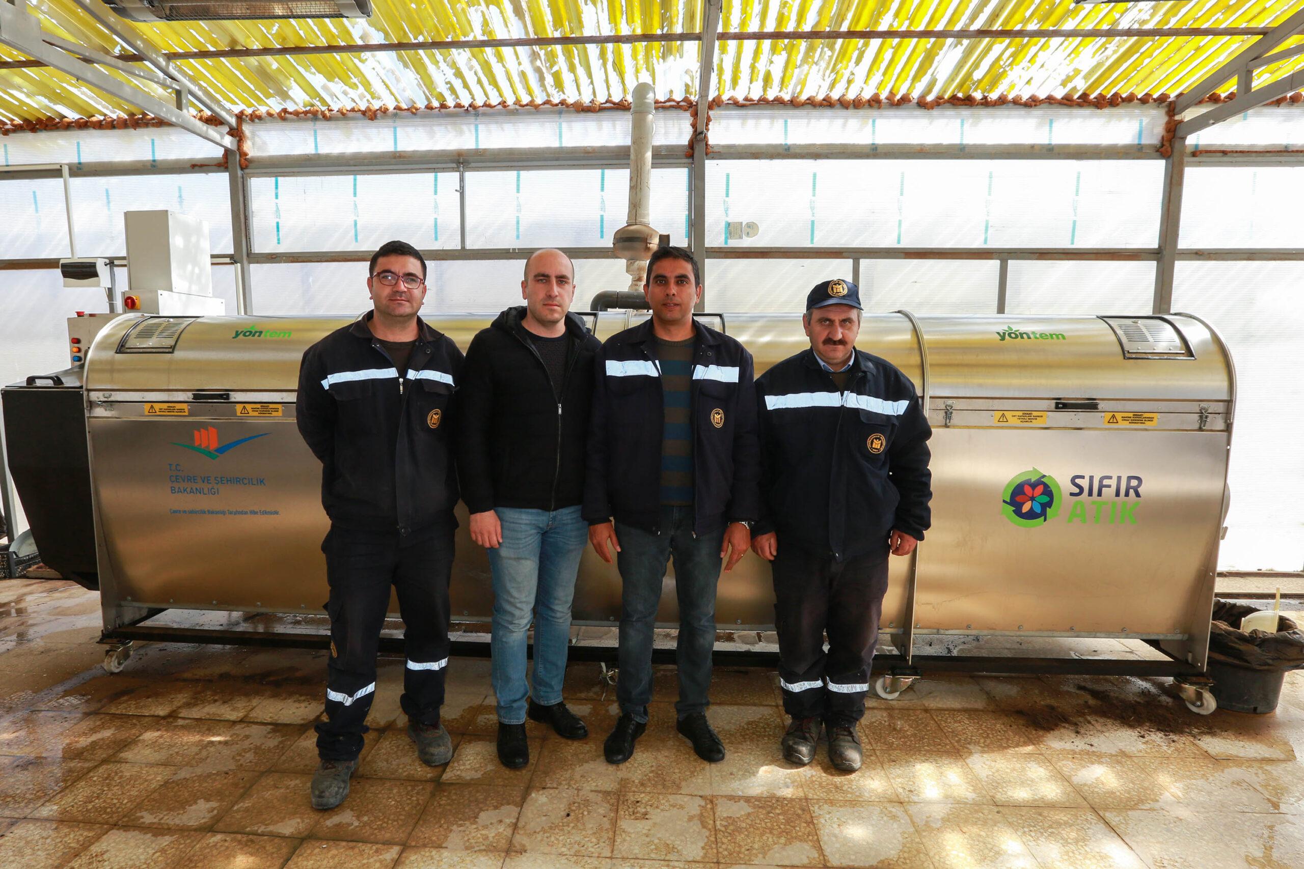 Yenimahalle'de organik gübre üretimi tam gaz
