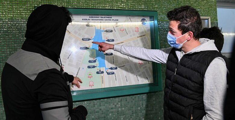 Ankaray'da hayatı kolaylaştıran haritalar
