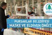 Pursaklar Belediyesi maske ve eldiven dağıttı