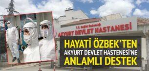 Akyurtlu iş adamı Hayati Özbek'ten anlamlı destek