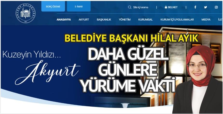 Akyurt Belediyesi web sitesi yenilendi…