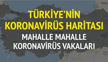 Mahalle mahalle Türkiye'nin koronavirüs haritası