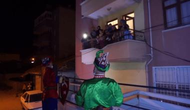 Hacivat Karagöz Akyurt'ta mahallelerde