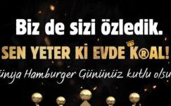 Dünya hamburger günü kutlanacak