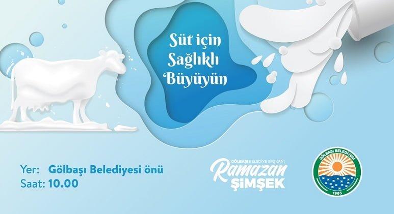 Gölbaşı Belediyesi'nden süt üreticisine destek