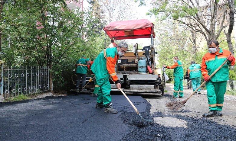 Çankaya'dan sezonun ilk asfaltı