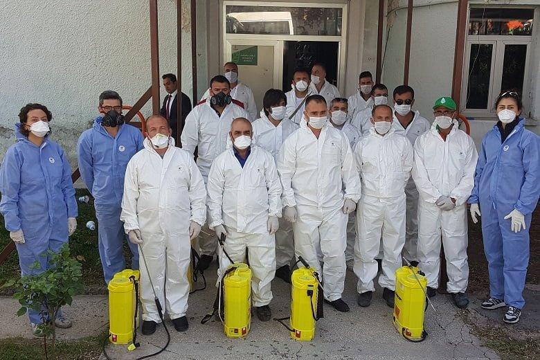 Kuaför ve berberlere dezenfekte önlemi