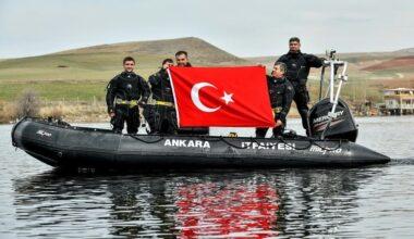 Ankara itfaiyesi su altı arama kurtarma ekiplerini yetiştiriyor