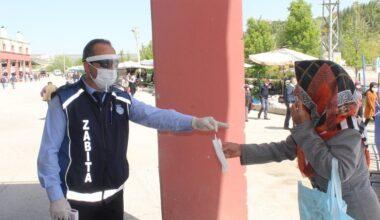 Akyurt'ta yüz binin üzerinde maske dağıtıldı