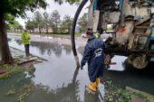 Büyükşehir ekiplerinin yağış nöbeti