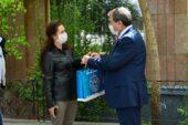 Başkan Yavaş'tan destek mektubu ve maske dağıtımı