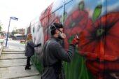 Başkentin gri duvarları artık rengarenk