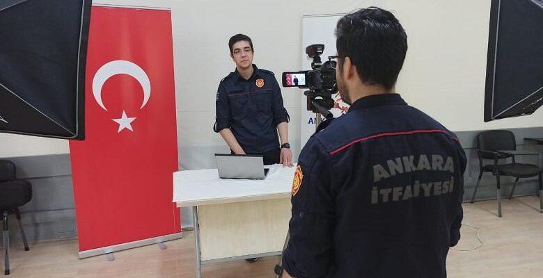Ankara İtfaiyesi uzaktan eğitim sistemine geçiyor
