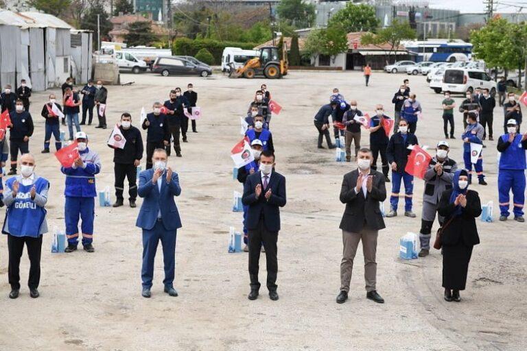 Altındağ'da personele moral ikramiyesi