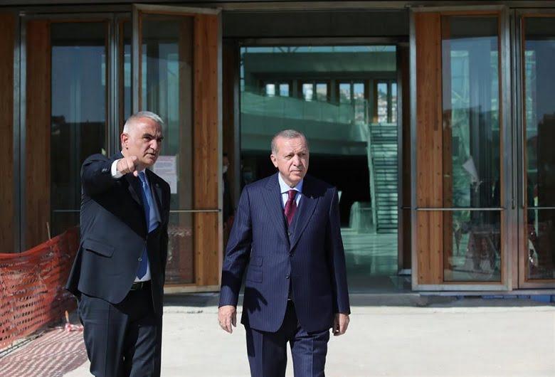 Erdoğan yeni CSO binasında incelemelerde bulundu