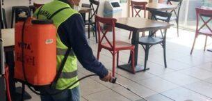 Yenimahalle'de lokanta ve kahvehaneler dezenfekte edildi