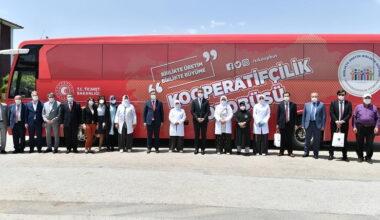 Kooperatifçilik Otobüsü Mamak'tan Yola Çıktı