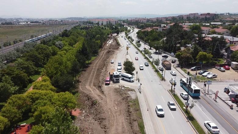 Türk Kızılayı Caddesi 45 gün trafiğe kapatılıyor