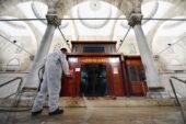 Başkent camilerinde hijyen önlemi