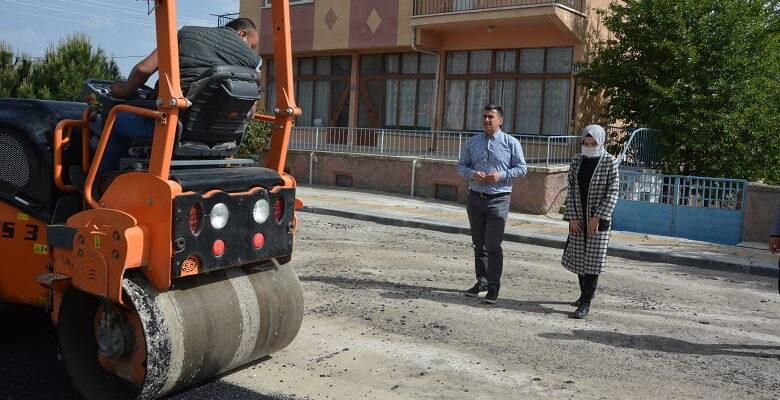 Akyurt Belediyesi Asfalt Yaması Yapıyor
