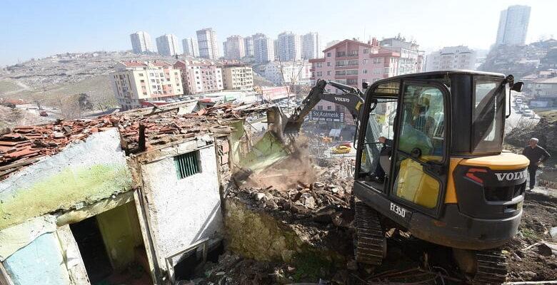 6 ayda 208 metruk yapı yıkıldı