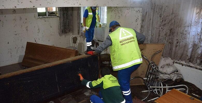 Keçiören Belediyesinden sel mağdurlarına yardım eli