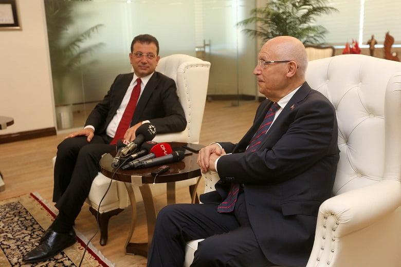Başkan Yaşar İmamoğlu'nu ağırladı