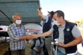 Yenimahalle'den çadır sahiplerine maske ve dezenfektan