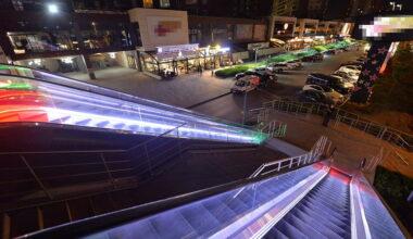 Başkentte yürüyen merdivenler ışıl ışıl