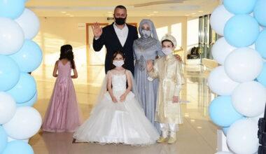 Keçiören'de sosyal mesafeli ilk sünnet düğünü