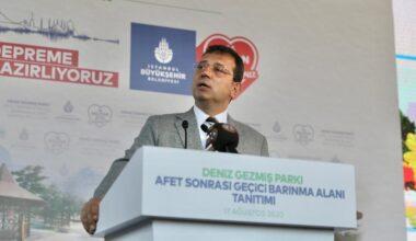 İmamoğlu: Kanal İstanbul için karşınızda dimdik dururuz